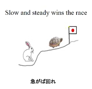 Slow and steady wins the race: 急がば回れ