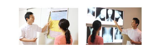 首の痛みの原因を見極めて、結果に反映させます。多くの場合、結果が出ないのは、キチンと原因を確認できていないからです