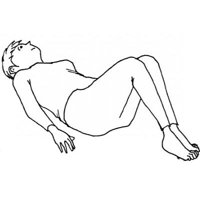腰全体と臀部がコリで固くなる