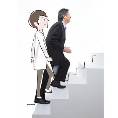 階段を昇るとき