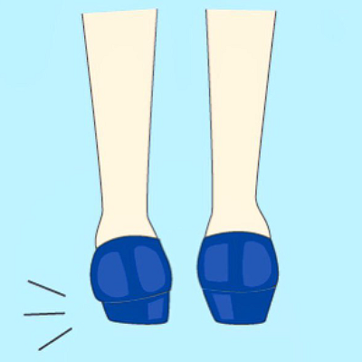 靴底のカカト外側が減る