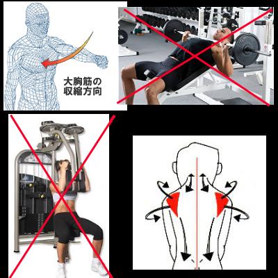 腹側と背中側の筋力バランスが崩れる