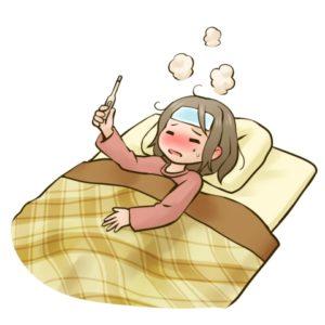 熱でしんどい